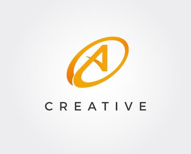 Letra mínima um modelo de logotipo