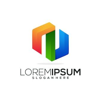 Letra n logotipo ícone negócios