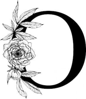 Letra o, alfabeto floral