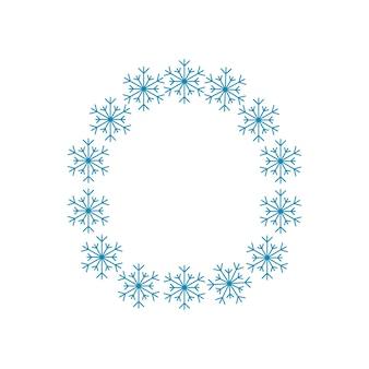 Letra o de flocos de neve. fonte ou decoração festiva para o ano novo e o natal