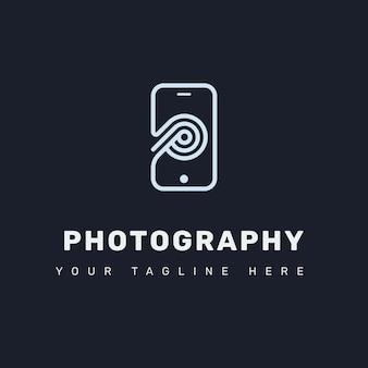 Letra p logo com celular