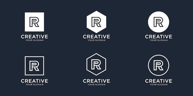 Letra r design de logotipo de tecnologia
