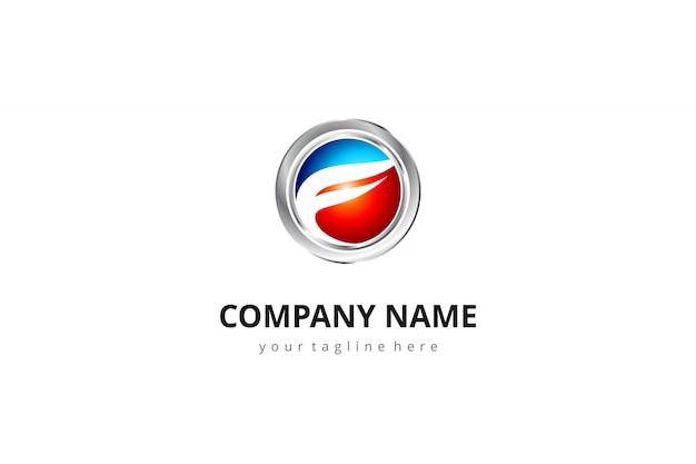 Letra resumo do logotipo 3d f