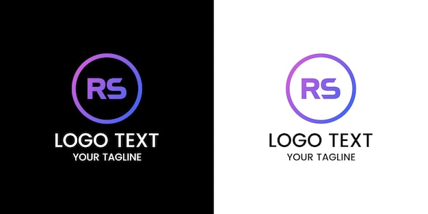Letra rs logo design vector