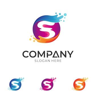 Letra s água / onda logotipo