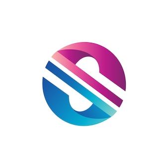 Letra s círculo logo vector