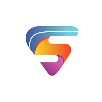 Letra s colorido logo vector