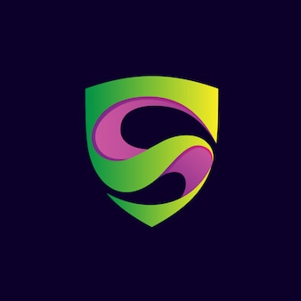 Letra s escudo logo vector