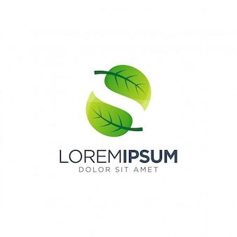 Letra s folha logotipo