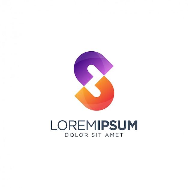 Letra s logotipo colorido