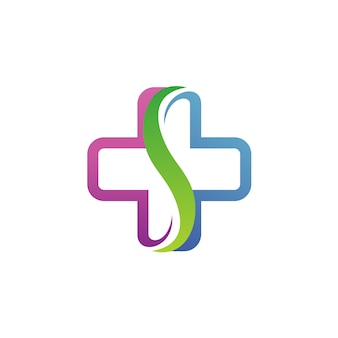 Letra s medical logo vector