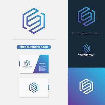 Letra S Monoline Estilo Simples Logo