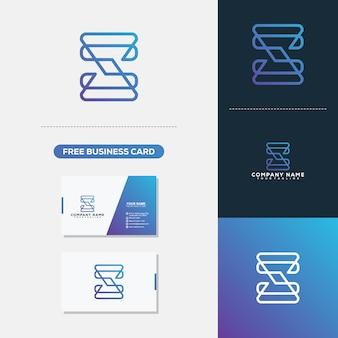 Letra S Monoline Simple Logo