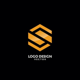 Letra s no design do logotipo do monograma