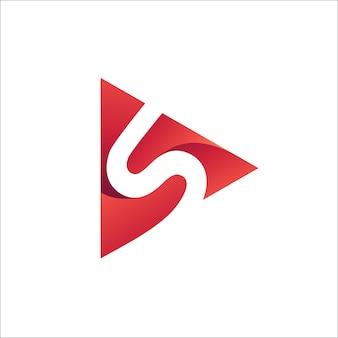 Letra s play logo vector