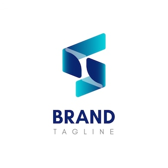 Letra s tecnologia logotipo