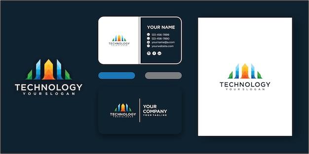 Letra simples um conjunto de vetor de modelo de logotipo. elementos do modelo de design do ícone do logotipo da letra a com cartão de visita
