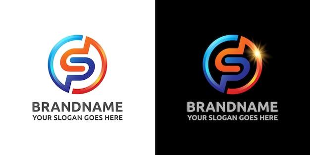 Letra sp esporte logotipo