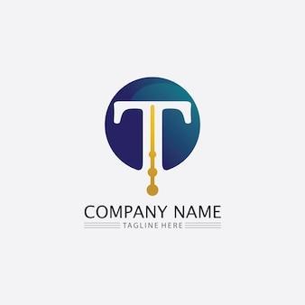 Letra t, desenho de alfabeto de fonte de vetor de logotipo t e ícone t