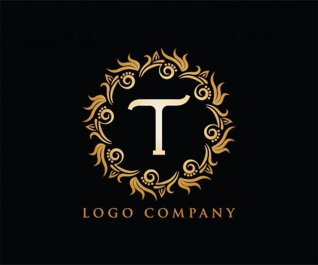 Letra t inicial logotipo