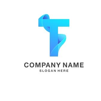Letra t logotipo
