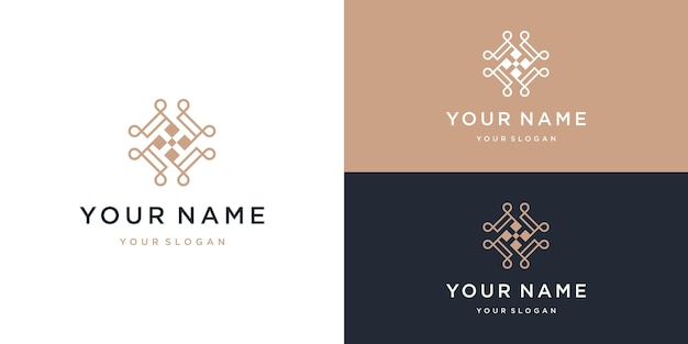 Letra t ornamento design de logotipo de beleza