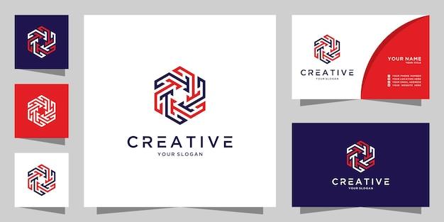 Letra th modelo de design de ícone de logotipo criativo