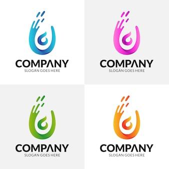 Letra u logotipo de pessoas