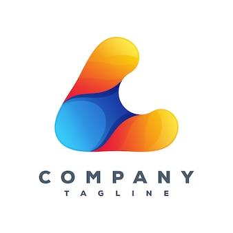 Letra um vetor de logotipo