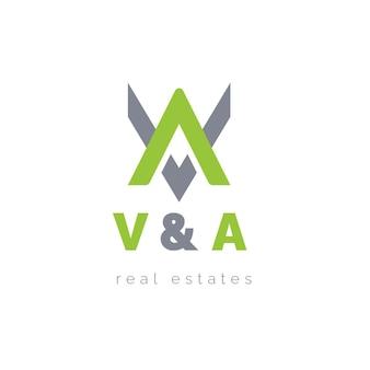 Letra v e logotipo de imóveis