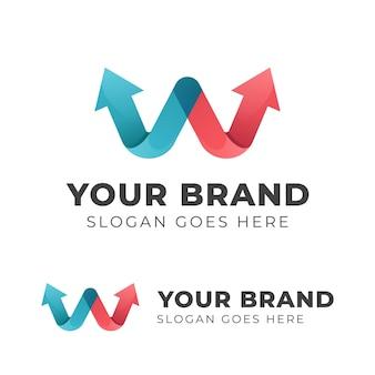 Letra w com seta design de logotipo para sua marca ou símbolo de início de empresa