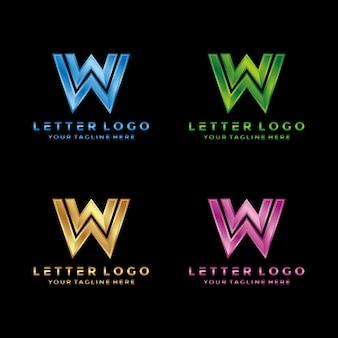 Letra w luxo, design moderno logotipo.
