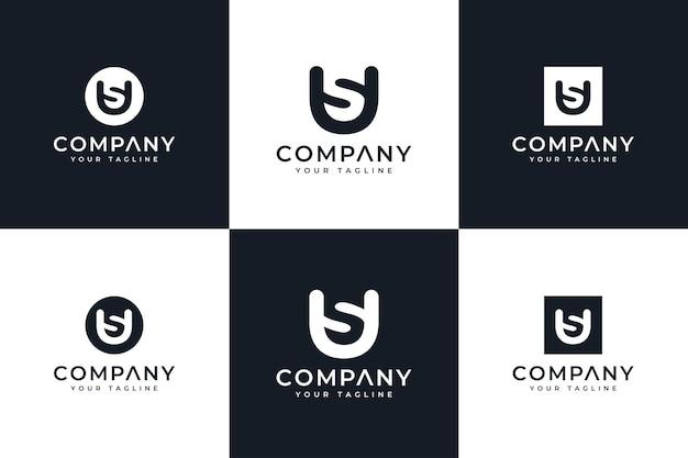 Letra wh design de logotipo criativo e modelo de cartão de visita premium vector