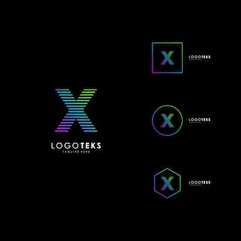 Letra x ícone do logotipo design elementos do modelo