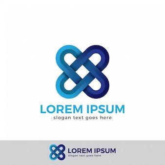 Letra x logotipo conceito estilo moderno