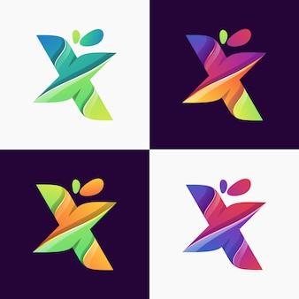 Letra x logotipo vector