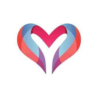 Letra y e amor logotipo