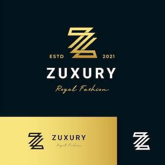 Letra z logotipo moderno ícone ilustração linha estilo listras