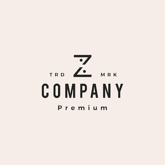 Letra z, pessoas, equipe, família, hipster, logotipo vintage, vetorial, ícone, ilustração