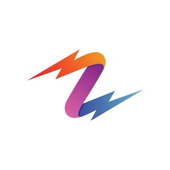 Letra z trovão logo vector
