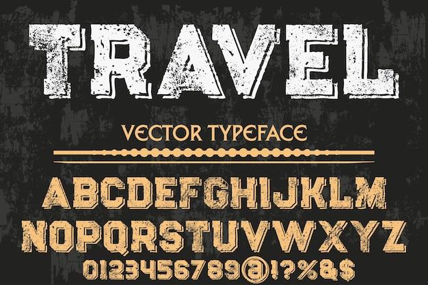 Letras artesanais font design travel
