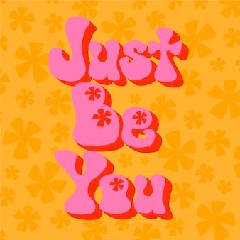 Letras auto-positivas da mensagem do estilo dos anos 70