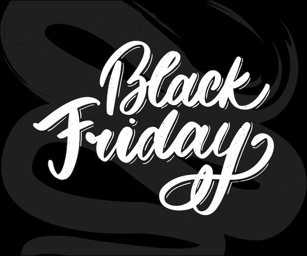 Letras caligráficas de sexta-feira negra