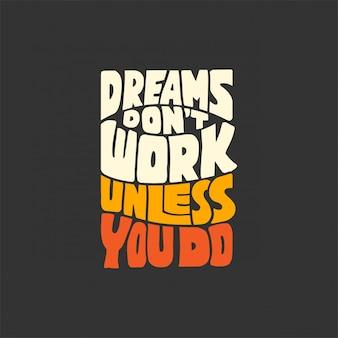 Letras citações motivacionais fundo design para seus sonhos