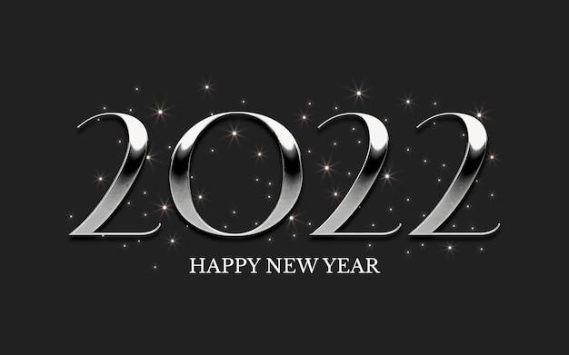 Letras clássicas em prata 2022 com estrelas