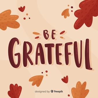 Letras coloridas de ação de graças feliz