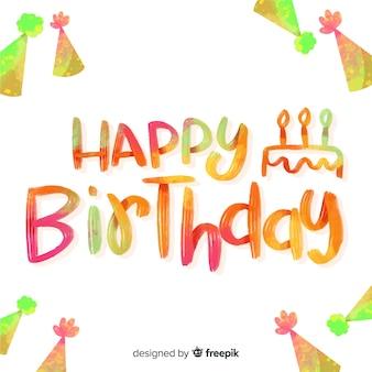 Letras coloridas de feliz aniversário