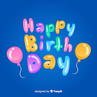 Letras coloridas feliz aniversário