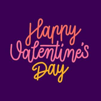 Letras coloridas feliz dia dos namorados
