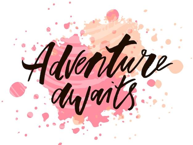 Letras com a frase aventura.
